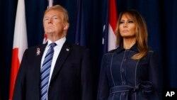 Predsednik Donald Tramp i prva dama Melanija Tramp (Foto: AP)