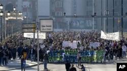 馬其頓民眾舉行和平遊行。