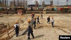 러시아 사마라의 건설현장. (자료사진)