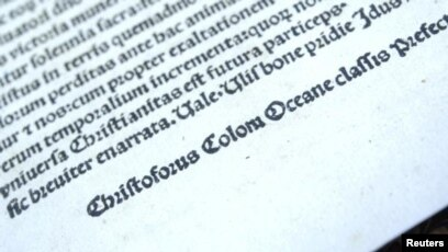 us returns stolen copy of christopher columbus letter to spain