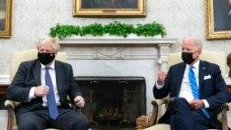 Встреча лидеров США и Великобритании в Овальном кабинете Белого дома, 21 сентября 2021 года