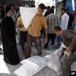 加沙地帶依靠外地運輸糧食補及供應