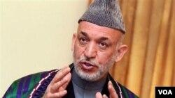 Presiden Afghanistan Hamid Karzai