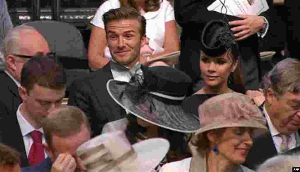 Дэвид и Виктория Бекхэм среди приглашенных гостей
