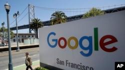 谷歌在舊金山的標識。