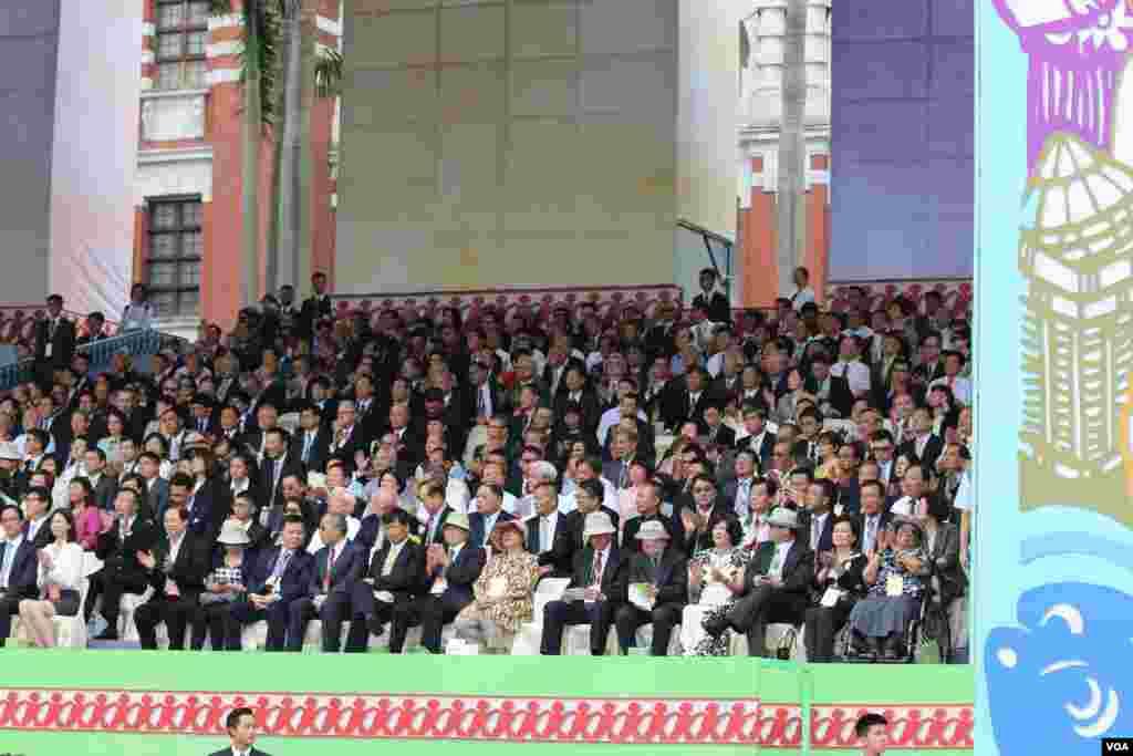 台灣總統蔡英文發表就職演說,2016年5月20日總統府前典禮(美國之音齊勇明攝影)