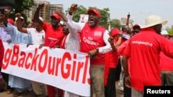 Zanga-zangar neman a je a kubuto da dalibai mata na Chibok da 'yan Boko Haram suka sace a Abuja, Yuni 3, 2014.