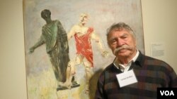 Люсьен Дульфан на открытии выставки