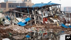 天津大爆炸導致建築倒塌