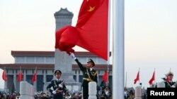 2018年1月1日天安门广场升旗仪式