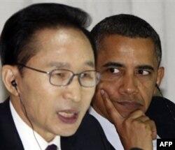 """AQSh prezidenti Barak Obama """"Janubiy Koreya ittifoqchimiz, bu davlatni himoya qilamiz"""" demoqda"""
