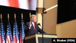 سخنرانی دونالد ترامپ در آخرین شب کنوانسیون ملی حزب جمهوریخواه در شهر کلیولند ایالت اوهایو - ۲۱ ژوئیه ۲۰۱۶
