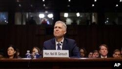Ông Neil Gorsuch tại phiên xét duyệt của Ủy ban Tư pháp Thượng viện ở Washington, ngày 20/3/2017.