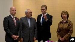 Cenevre görüşmelerine katılan İngiltere, İran ve Almanya dışişleri bakanlarıyla AB temsilcisi Catherine Ashton