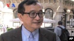 Ông Sam Rainsy, nhà lãnh đạo Đảng Sam Rainsy