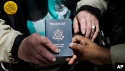 File - A U.S. passport.