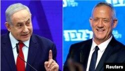 بنی گانتز (راست) و بنیامین نتانیاهو