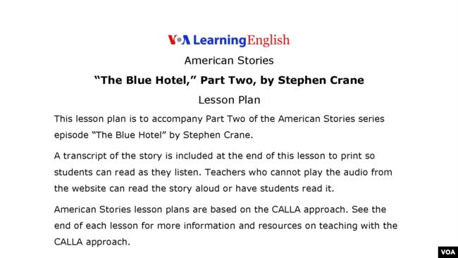 the blue hotel stephen crane essays