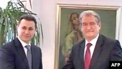 Kryeministri i Shqipërisë Sali Berisha viziton Maqedoninë