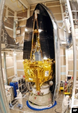 Gravity Probe B prior to launch in 2004