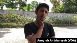 Mohammad Masud, (25), pengungsi etnis Muslim Rohingya di Medan, Sumatra Utara. (Anugrah Andriansyah)