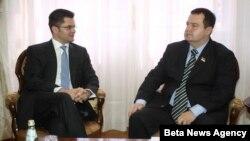 Premijer Srbije Ivica Dačić i Vuk Jeremić koji od septembra predsedava Generalnom skupštinom UN su se susreli u Beogradu