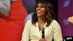 L'ancienne première dame des États-Unis, Michelle Obama, assiste au Sommet United State of Women à Los Angeles, le 5 mai 2018.