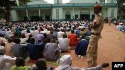 Dans une mosquée du quartier PK5 à Bangui, Centrafrique, le 6 juillet 2016.