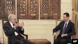 卜拉希米與敘利亞總統阿薩德會晤
