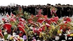 朝鮮民眾出席悼念儀式