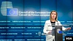 یورپین یونین کی نمائیندہ خصوصی فیڈریکا موغیرینی۔ فائل فوٹو
