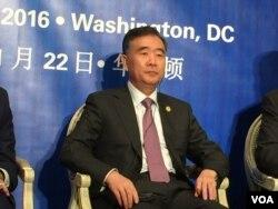 中国副总理汪洋出席研讨会(2016年11月22日,美国之音莉雅拍摄)