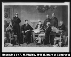 First reading of the Emancipation Proclamation before the cabinet.