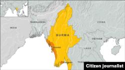 Burma's map