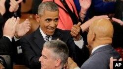 Predsednik Obama posle govora o stanju nacije