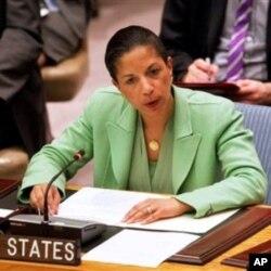 L'ambassadeur des Etats-Unis à l'ONU, Susan Rice