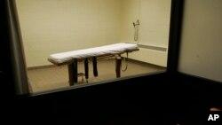 Foto de archivo de una cámara de muerte en una prisión de Ohio.