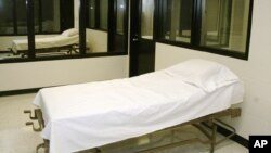 FILE - A 'death chamber' is seen at a correctional center in Bonne Terre, Missouri.