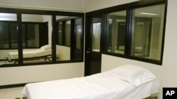 Foto de archivo de una cámara de la muerte en el Centro Correccional de Missouri, en Bonne Terre.