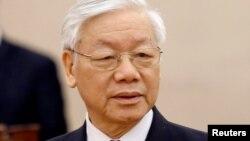 越南國家主席和越南共產黨中央總書記阮富通。(資料圖片)