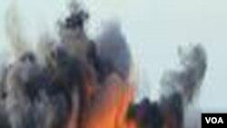 Sebuah roket yang ditembakkan dari wilayah Palestina