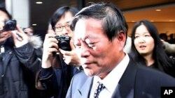 미-북 고위급회담을위해 회담장으로 향하는 북한의 리근 외무성 북미국장 (자료사진)