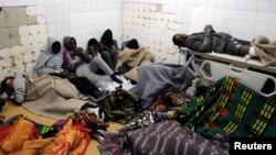 ٹرک حادثے میں زخمی ہونے والے کچھ تارکین وطن بنی ولید کے استپال میں زیر علاج ہیں۔ 14 فروری 2018
