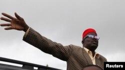 Le Seigneur de guerre, et maintenant candidat présidentiel Prince Johnson dans le comté de Bomi, au Liberia, le 14 septembre 2011.