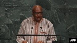 Roch Marc Christian Kaboré devant l'assemblée de l'ONU, le 21 septembre 2017.
