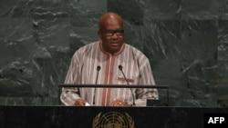 Roch Marc Christian Kaboré devant l'AG de l'ONU, le 21 septembre 2017.