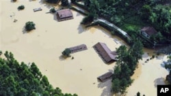 A flooded area in Nova Friburgo, Brazil, 17 Jan 2011