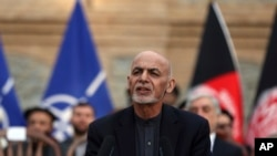Afghan President Ashraf Ghani, speaks during a joint news conference in presidential palace in Kabul, Afghanistan, Saturday, Feb. 29, 2020. The U.S. signed a peace agreement with Taliban militants on Saturday aimed at bringing an end to 18 years of…