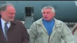 2013-12-08 美國之音視頻新聞: 美國國防部長哈格爾在阿富汗談安全協議