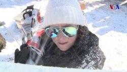 Buz heykəltəraşlığı çempionatının qadın qalibi
